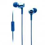 Sony MDR-EX250AP In-ear hörlurar med mic, blå