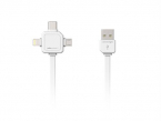 ALLOC Power USB Multicable, 1,5 m, Type-C, Lightning, Micro USB
