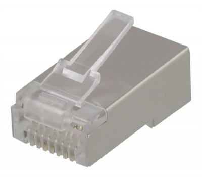 Deltaco RJ45 kontaktdon för patchkabel, Cat6, skärmad, 20‑pack