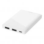 DELTACO Powerbank med 2st USB-A, 5000mAh, 10.5W