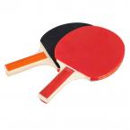 Bordtennis-racket med 3 bollar, 2-pack