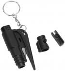 3-i-1 Säkerhetsverktyg för bilen, vissla/hammare/knivblad, svart