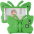 Fjärilsformat barnfodral, Samsung Tab A 8.0, grön