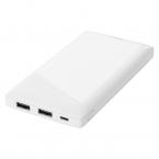 DELTACO Powerbank med 2x USB-A, 10 000mAh, 10.5W