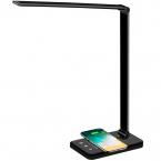 Dimbar skrivbordslampa med trådlös laddning och 5 ljuslägen, 5V