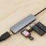 6‑i‑1 USB‑C hubb med 3xUSB 3.0, kortläsare och HDMI, PD, 87W