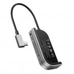 Baseus Bend Angle No.7 Mångsidig USB-C hubb, mörkblå