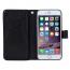 Plånboksfodral med 9 kortplatser till iPhone 6/6S, svart