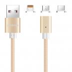 Smart magnetisk laddkabel, lightning, USB-C, Micro-USB, guld