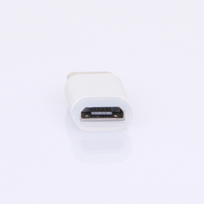 Universal synk adapter, Micro-USB till USB-C, silver