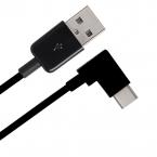 Vinklad USB-C till USB 2.0, 90°, 2m