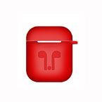 Skyddsfodral i silikon till Apple Airpods, röd