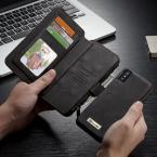 CaseMe plånboksfodral med magnetskal, iPhone X/XS, svart