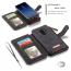 CaseMe plånboksfodral med magnetskal, Samsung Galaxy S8, svart
