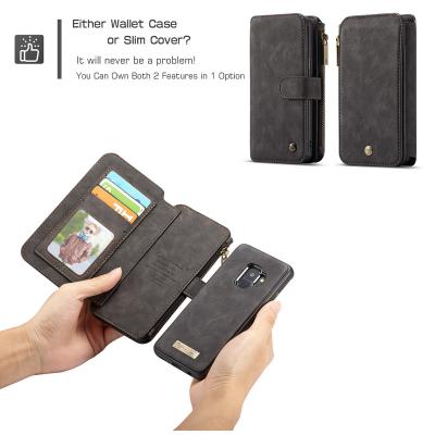 CaseMe plånboksfodral med magnetskal, Samsung Galaxy S9, svart