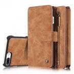 CaseMe plånboksfodral med magnetskal, iPhone 7/8 Plus, brun