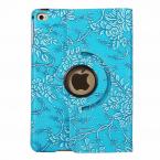 Läderfodral med blommor till iPad Mini 4/5, blå