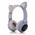 Cat Ear trådlösa barnhörlurar, 3.5mm, ljusblå