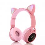 Cat Ear trådlösa barnhörlurar, 3.5mm, rosa