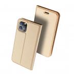 DUX DUCIS Skin Pro läderfodral till iPhone 11 Pro Max, guld