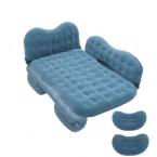 Uppblåsbar luftmadrass för baksätet, 135x88cm, blå