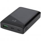 DELTACO Powerbank med både USB-A och USB-C, PD, 10.000 mAh, 18W