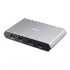 ATEN 2x4 USB-C Gen2 Delnings-Switch med genomströmning