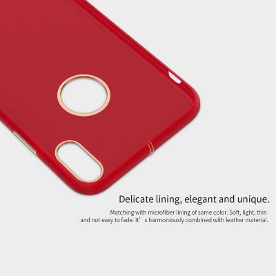 Nillkin PU skal för iPhone X/XS, röd