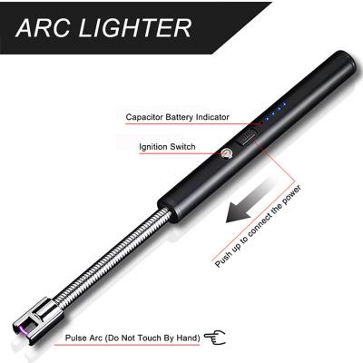 ArcLighter böjbar uppladdningsbar USB‑tändare, silver