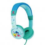 Baby Shark Hörlur Junior, On-Ear, 85dB, blå