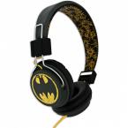 Batman Hörlur Tween, On-Ear 110dB, svart/gul
