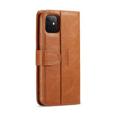 BRG Luxury läderfodral med ställ till iPhone 11 Pro Max, brun