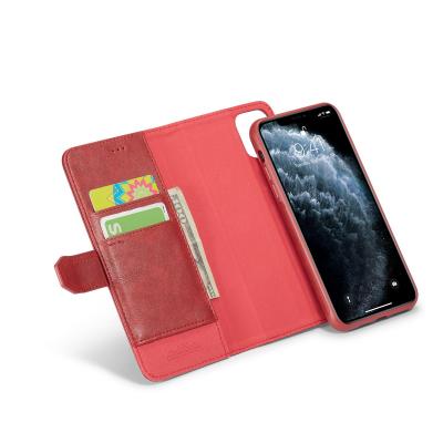 BRG Luxury plånboksfodral med ställ till iPhone 11 Pro, röd