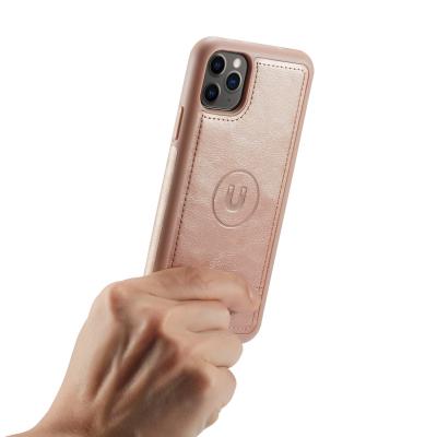 BRG Luxury plånboksfodral med ställ till iPhone 11 Pro, rosa