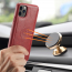 BRG Luxury plånboksfodral med ställ, iPhone 11, röd