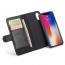 BRG Luxury plånboksfodral med ställ, iPhone XR, svart
