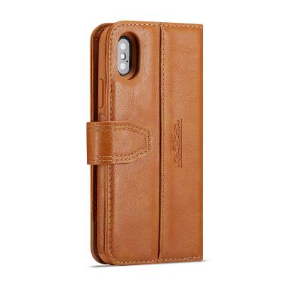 BRG Luxury plånboksfodral med ställ till iPhone XS Max, brun