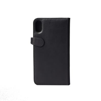 Gear plånbokfodral i äkta läder, iPhone XS Max, svart