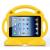 Barnfodral till iPad 2/3/4, gul