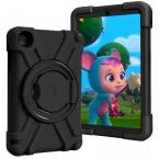 Barnfodral med roterbart ställ, Samsung Tab A 8.4 (2020), svart