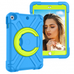 Barnfodral roterbart ställ, iPad 10.2 / 10.5 / Air 3, blå/grön