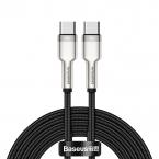 Baseus Cafule USB-C till USB-C datakabel, 100W, 5A, 2m, svart