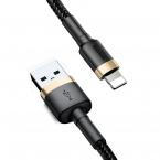 Baseus Cafule Lightning-kabel, 1.5A, 2m, svart/guld