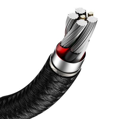 Baseus Cafule USB till USB‑C datakabel, 40W, 5A, 0.25m, svart