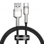 Baseus Cafule USB till USB-C datakabel, 40W, 5A, 1m, svart