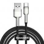 Baseus Cafule USB till USB-C datakabel, 40W, 5A, 2m, svart