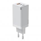 Baseus GaN2 Pro Väggladdare med 2xUSBC+USB, 65W, EU, vit