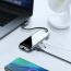 Baseus Mirror series USB‑C adapter, HDMI, LAN, 3xUSB 3.0, svart