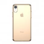 Transparent TPU skal till iPhone XR, guld