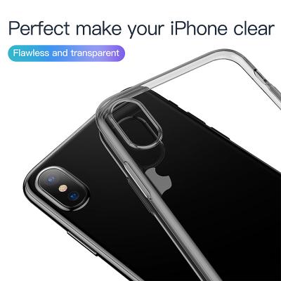 Transparent TPU skal till iPhone XS Max, svart